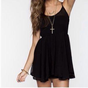 Brandy Melville Black Nora Mini Dress